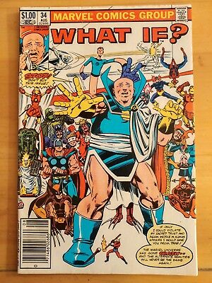 WHAT IF? #34 (1982 MARVEL Comics) ~ VG Book