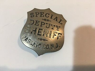 Antique Special Deputy Sheriff Badge Passaic Co. N.J. Obsolete
