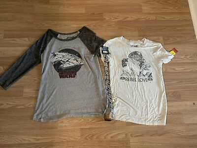 Star Wars Lot Women's T-shirt's XS/S With Lanyard