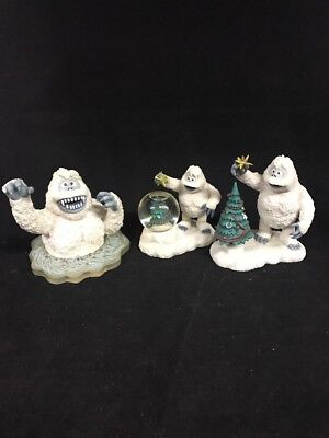Rudolph And The Island Of Misfit Toys Abominable Snowman Figirine Lot Of 3 JP4