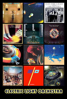 """ELECTRIC LIGHT ORCHESTRA album discography magnet (4.5"""" x 3.5"""")  ELO jeff lynne"""