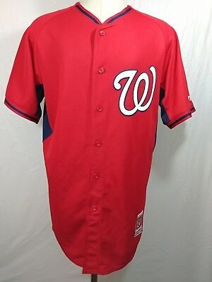Washington Nationals MLB Authentic Majestic Cool Base Jersey Red Size 44