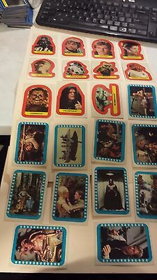 1983 Topps Star Wars Return Of The Jedi Series 2 22 Sticker Card Set Complete