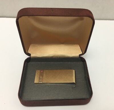 Vintage Collectible Coca Cola Coke Josten's Gold Plated Money Clip Employee Gift