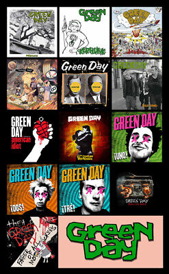 "GREEN DAY album discography magnet (4.5"" x 3.5"") nofx rancid bad religion blink"