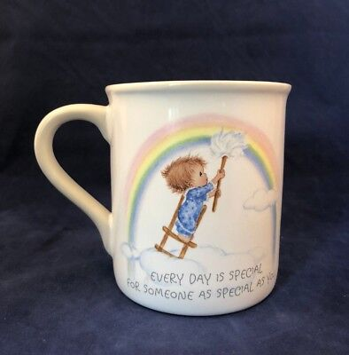 Betsey Clark Every Day Is Special Hallmark Friends Gift Mug Rainbow Cloud Love