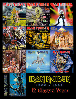 """IRON MAIDEN 12 Wasted Years (1980-1992) album discography magnet (4.5"""" x 3.5"""")"""