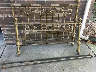 Vintage Antique 1900s Brass Twin Bed Frame 125 00 Picclick