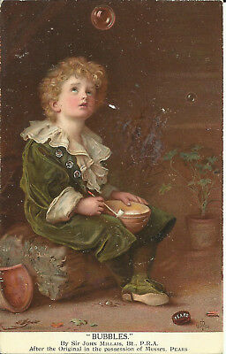 """Greeting Postcard - """"Bubbles"""" by Sir John Millais, After Original of Pears Soap"""