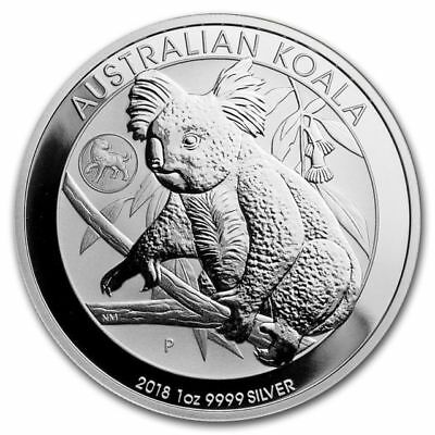 2018 1 oz .9999 Silver Koala with Dog Privy - Latest Issue from Perth Mint.