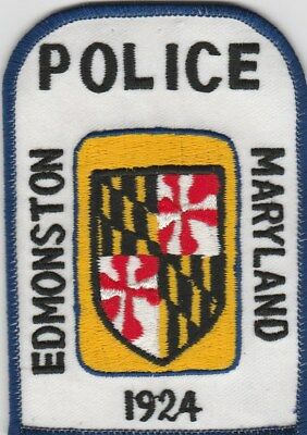vintage Edmonston, Maryland Police Dept patch  MD