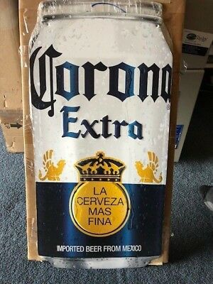 American Metal Embossed Beer Sign  Corona Extra Can