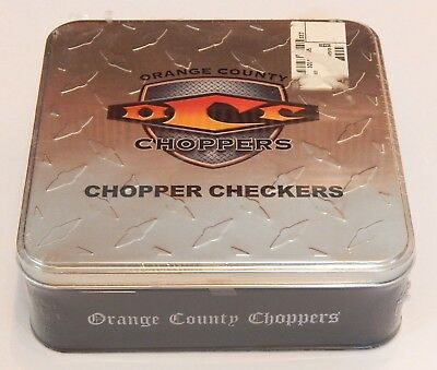 Orange County Choppers Chopper Checkers Game Board OCC Tin 2004 Collectors Item