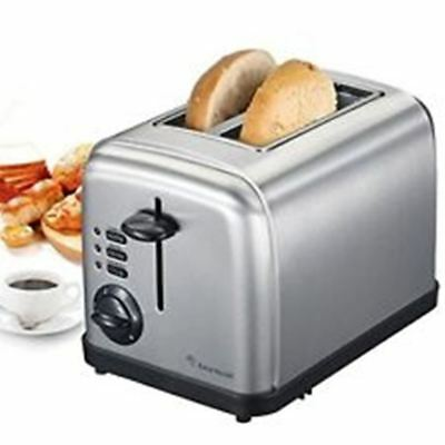 2-Slice Stainless Steel Toasters Extra Wide Slots and Removable Crumb Tray  S