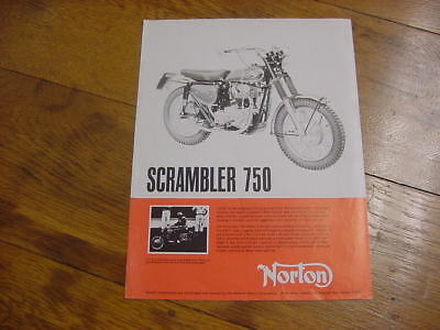 Vintage Original Norton motorcycle Scrambler, Atlas 750 brochure Berliner 1966?