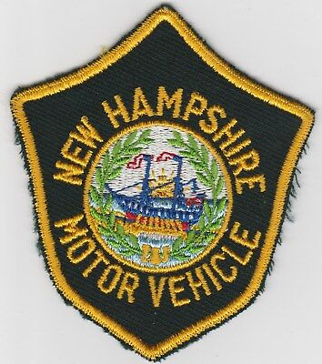 vintage State of New Hampshire Motor Vehicle patch  NH   cheesecloth back