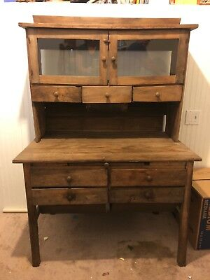 Antique Possum Belly Bakers Cabinet