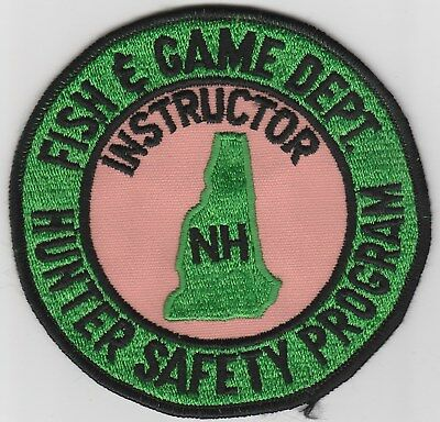 vintage New Hampshire Fish & Game Hunter Safety Program Instructor patch  NH