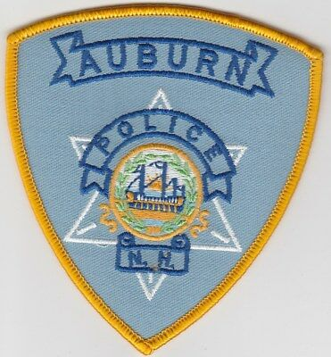 vintage Auburn, New Hampshire Police Dept patch  NH   old style