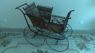 FA Whitney Antique Collectible Baby Stroller Pram Carriage