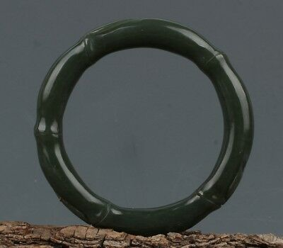 China Exquisite Hand-carved Hetian jade bracelet(Inside:58mm / 2.28inch)
