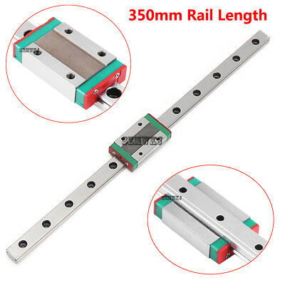 MGN12H 350mm Mini Linear Slide Rail Guide + Sliding Block for CNC 3D Printer DIY