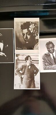 Music Legend Postcards - Mahler, Nat King Cole, Armstrong And Holiday
