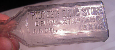 Pioneer Drug Store, Dr. W.L. Stephens, Arco Idaho rare pharmacy bottle