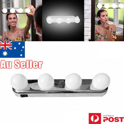 Super Bright Vanity Mirror Portable Light Bulbs 4LED Glow Make Up Cosmetic UE