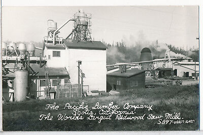 Pacific Lumber Co., Scotia, Humboldt Co., CA. Real Photo RPPC postcard 1930s