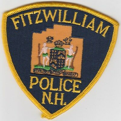vintage run Fitzwilliam, New Hampshire Police Dept patch  NH