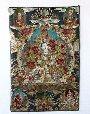 Tibet Collectable Silk Hand Painted The Buddhism Thangka a7016