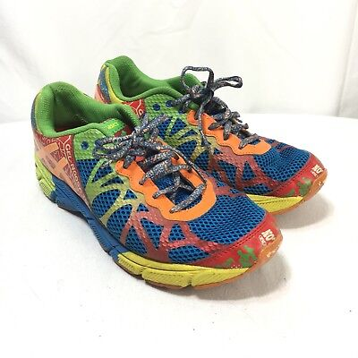 cheaper 0fd3b 3484a ASICS GEL NOOSA Tri 9 Womens 6.5 Bright Multi Color Lace Up Running Shoes