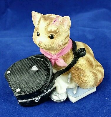 Enesco Calico Kittens My Purr-suit of Happiness Led To You Figurine #488615 Cat