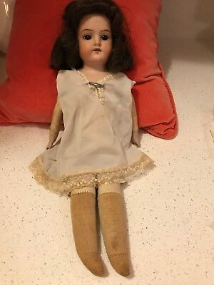 "Antique 13"" Brown Eye Brown Hair AM 6/0 DEP Armand Marseille Germany Doll"