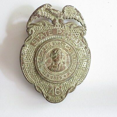 Vintage Washington State Patrol Badge