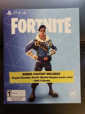 *RARE* Fortnite Battle Royale Bomber Outfit Skin CODE+500 V Bucks Sony PS4 USA