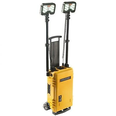 NEW Pelican 9460M  2-Head Remote Area Lighting System Mobility - Yellow -  Torch