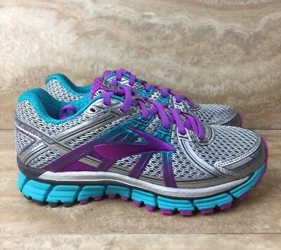 8b5d5e62075 Brooks Adrenaline GTS 17 Narrow Women s Running Shoes Silver Purple Blue