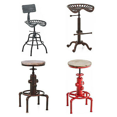 Outstanding Industrial Bar Stool Swivel Tractor Seat Rustic Counter Machost Co Dining Chair Design Ideas Machostcouk