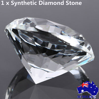 """60mm/2.36"""" Large Glass Crystal Diamond Shaped Paperweight Clear Jewel Home Decor"""