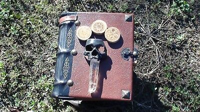 "Book Of Shadows ""new"" Hand Bound Italian Leather Wicca Witchcraft Wizzard"