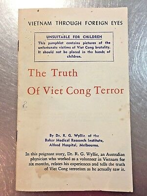 original Old Australian 1966 Vietnam War Booklet 'truth of Viet Cong Terror'