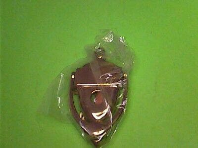 "Vintage Ives Solid Brass Door Knocker Small 4"" x 2-1/4"" w/ Peep Hole 762B"