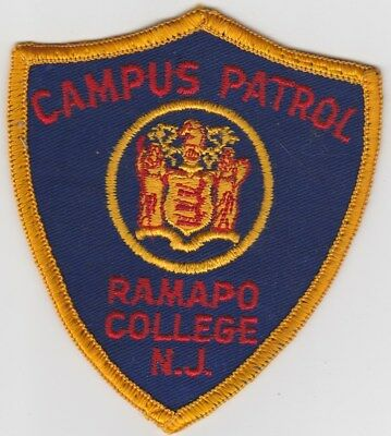 vintage Ramapo College, New Jersey Campus Patrol patch  NJ   old style
