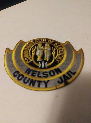 Collectable Commonwealth Of Kentucky Nelson County Jail Patch