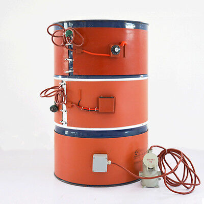 110V Temperature Control Oil Drum Heater Thick 102*1740*1.8mm 1Kw