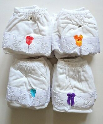 100% Cotton Kids Infant Ruffle Cotton Diaper Cover Underwear 2-3 Years Pack of 6