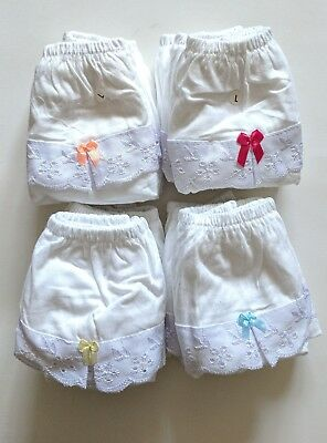 100% Cotton Kids Toddler Ruffle Diaper Cover Underwear 3,5 - 5 Years Pack of 6