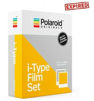 EXPIRED Polaroid Originals COLOR + B&W Instant Film Set for i-Type OneStep 2 +